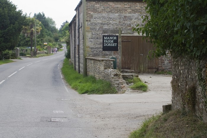 Manor Farm sign from road
